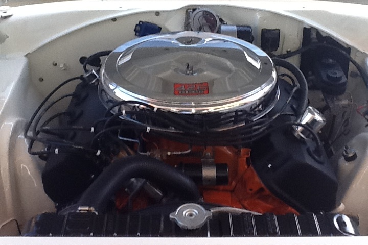 Engine compartment of Bob's 1966 Hemi Belvedere.