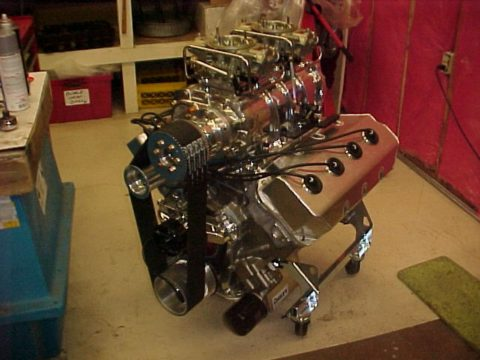 Blown Hemi Engine Mopar